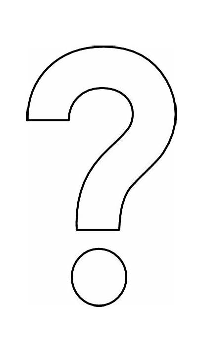 Question Mark Coloring Clipart Oxe