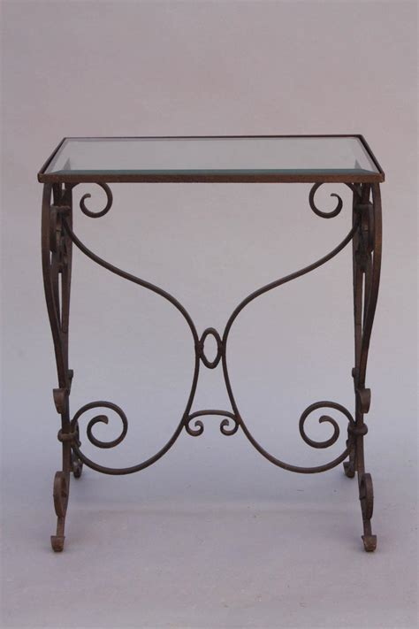 wrought iron end tables with glass tops wrought iron side table with glass top for sale at 1stdibs