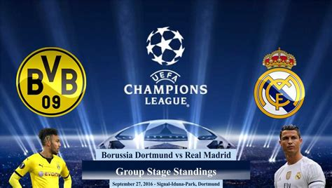 Champions League Real Madrid Set For Borussia Dortmund