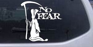 Grim Reaper No Fear Decal Car or Truck Window Laptop Decal ...