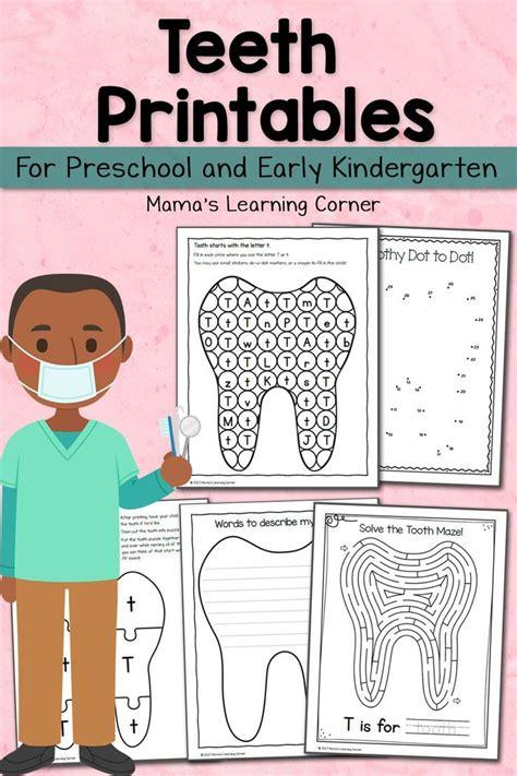 teeth printables for preschool and kindergarten dental
