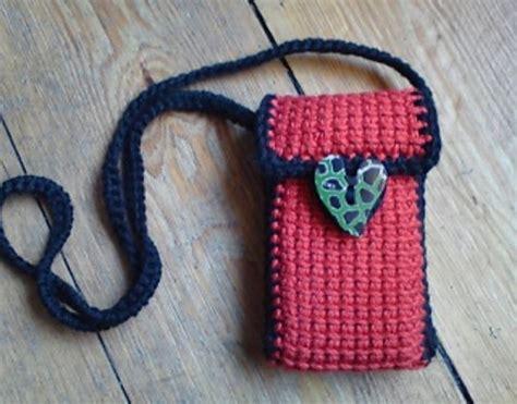 cell phone bagpurse crochet purses  bags pinterest