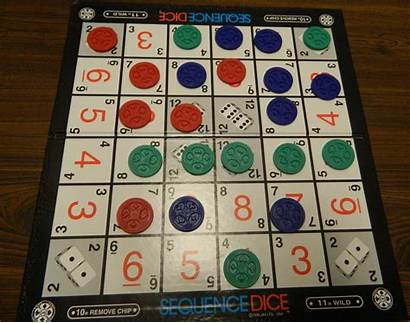 Dice Sequence Board Rules Chips Row Number