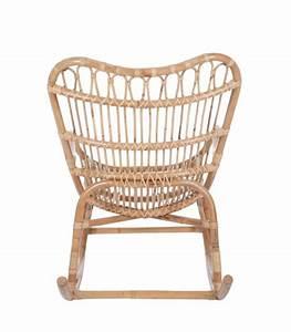 Siege En Rotin : fauteuil bascule rocking chair en rotin naturel ~ Teatrodelosmanantiales.com Idées de Décoration