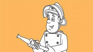 How To Draw Fireman Sam From Fireman Sam Tv Show Youtube