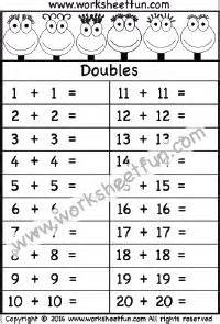 grade math worksheets adding doubles
