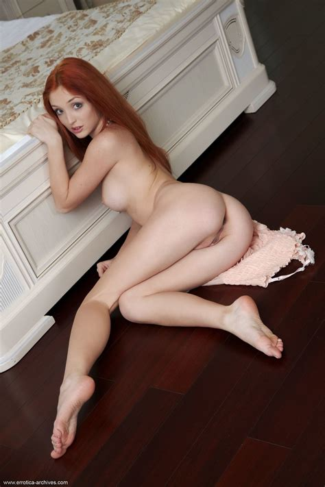 Red Hot Redhead Micca Plays Naked In Her Bedroom By