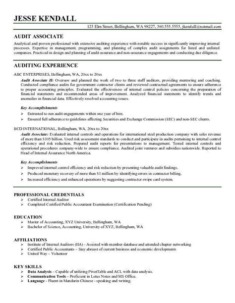 Auditor Resume Exles by Auditor Resume
