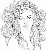 Coloring Brush Getcolorings Printable Braided Hairstyle Colorings sketch template