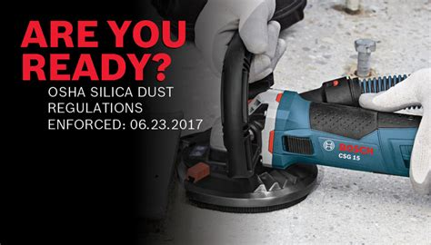 osha silica dust regulations boschtools