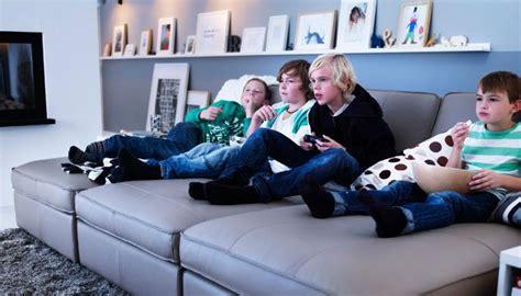 Three Kivik Chaise Longues Put Together As A Big Sofa