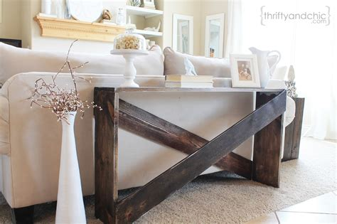 how to decorate a sofa table against a wall thrifty and chic diy projects and home decor