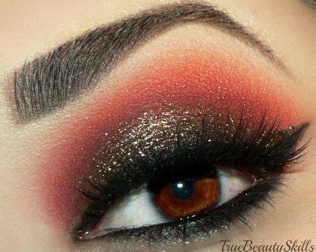 black gold  red eye makeup eyeshadow eye makeup
