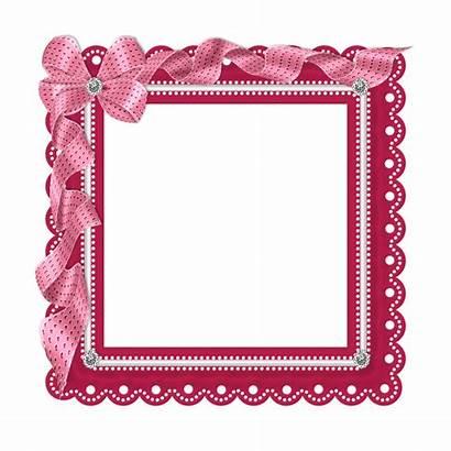 Frame Clipart Lace Frames Pink Ribbon Tubes