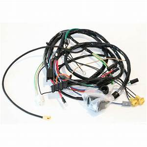 1969 Camaro V8 Front Light Wiring Harness With Warning