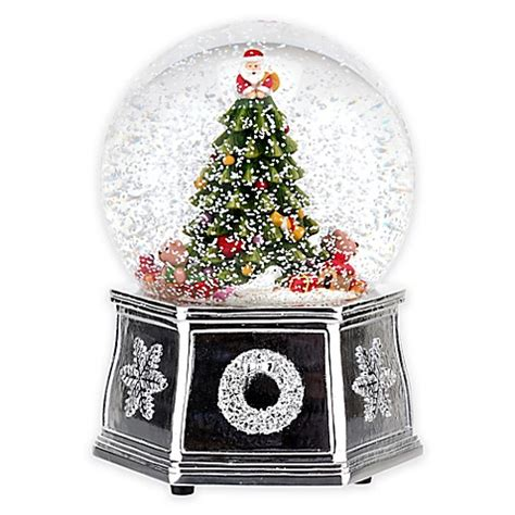 spode christmas tree musical snow globe bed bath