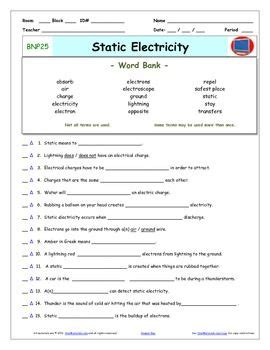 differentiated video worksheet quiz ans  bill nye