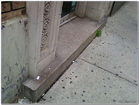 granite outdoor step before cleaning gallery