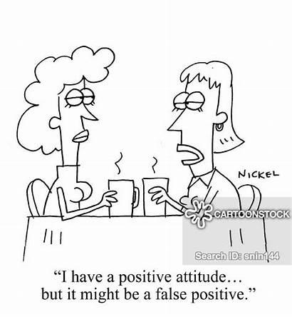 Positive False Cartoon Cartoons Comics Attitude Negative