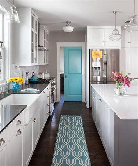 island for kitchen opening up a snug 1941 cottage aqua paint pocket doors 1941
