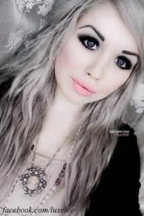 Silver Hair Dark Eyebrows