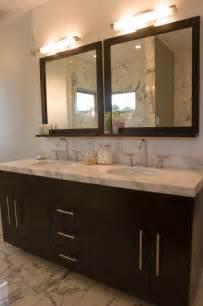 White Overmount Bathroom Sink by Espresso Bathroom Vanity Design Ideas