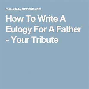 Writing an obituary for your dad