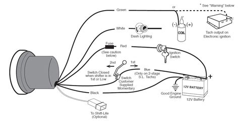 guide 13500 01 how to install an auto meter sport comp 5in tachometer w on autometer sport comp wiring diagram