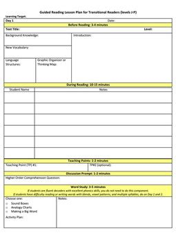 Differentiated Guided Reading Lesson Plans By The Literacy Spot