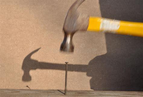 hammer hitting nail stock photo image  hammer work