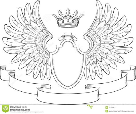 family crest template wings clipart family crest pencil and in color wings clipart family crest