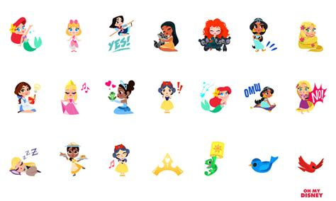 Stickers Princesse Disney Disney Stickers For Imessage Now Available For Apple Ios 10 Users Inside The Magic