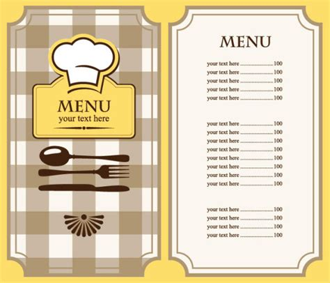 blank menu template free download set of cafe and restaurant menu cover template vector 03