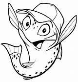 Trout Cartoon Outline Fish Drawings Mike Drawing Miketrout Coloring Pages Getdrawings Own sketch template
