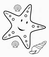 Starfish Coloring Pages Fish Ocean Printable Colouring Cartoon Uteer Colors sketch template