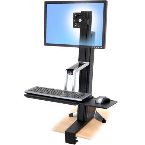 Ergotron Sit Stand Desk Mount workfit s ergotron 33 344 200 single hd sit stand workstation