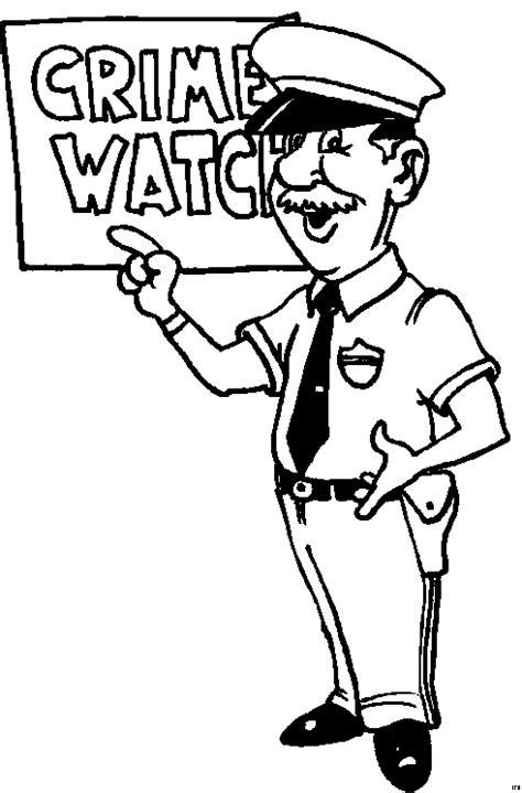 Polizist 2 Ausmalbild & Malvorlage (kinder