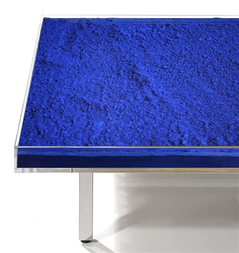 blue table l table klein blue by yves klein for at 1stdibs