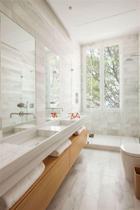 Modern Bathroom With Wood Tile by Best 25 Wooden Bathroom Vanity Ideas On Wall