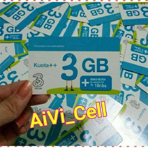 voucher kuota tri 3gb aivicell