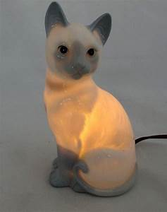 How Many Candles Light On First Night Of Hanukkah Vtg Andre Richard Ceramic Blue Point Siamese Cat Night