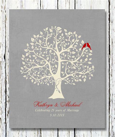 silver anniversary 25th silver wedding anniversary tree gift anniversary gift