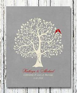 25th silver wedding anniversary tree gift anniversary gift for Tree as wedding gift