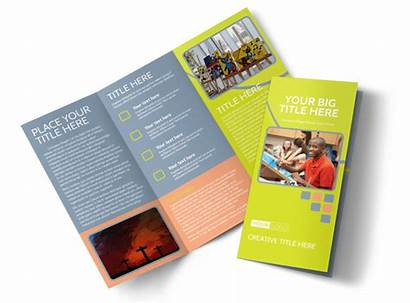 Brochure Creative Class Template Fold Tri Brochures