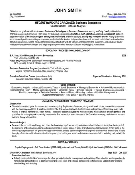 top finance resume templates sles