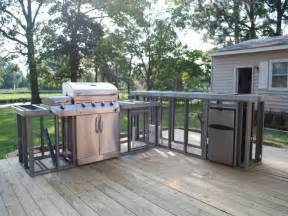 prefabricated outdoor kitchen islands planning ideas how to build outdoor kitchen plans diy
