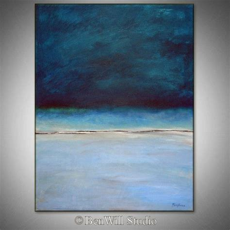 modern blue painting abstract blue painting original artwork large blue abstract painting modern decor horizon