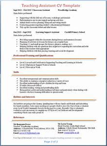 teacher cv template uk