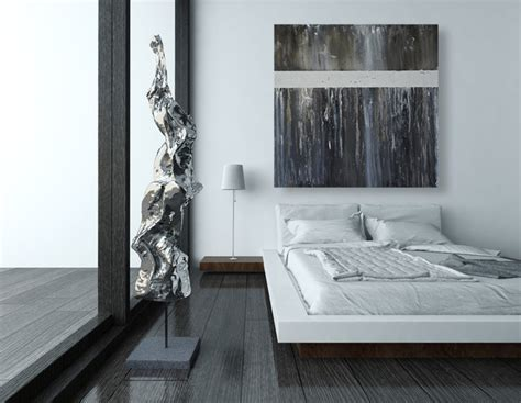Black and White Modern Abstract Art for the Wall   Modern