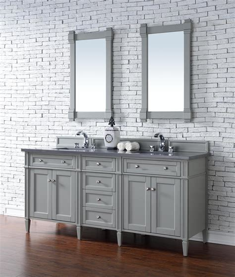 vanity top no sink james martin brittany collection 72 quot double vanity urban gray